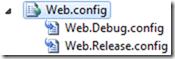 Web.Release.Config , Web.Debug.Config