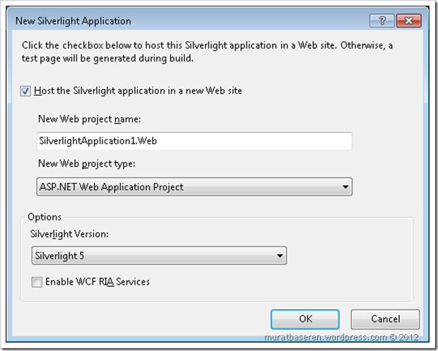 Silverlight Projesinin Ayarlanması