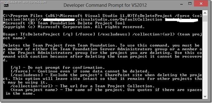 Delete TFS Project