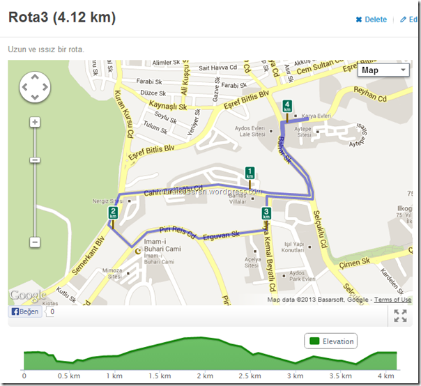 Running route 4.12km   RunKeeper