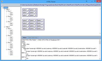Basit HTML Table Parser