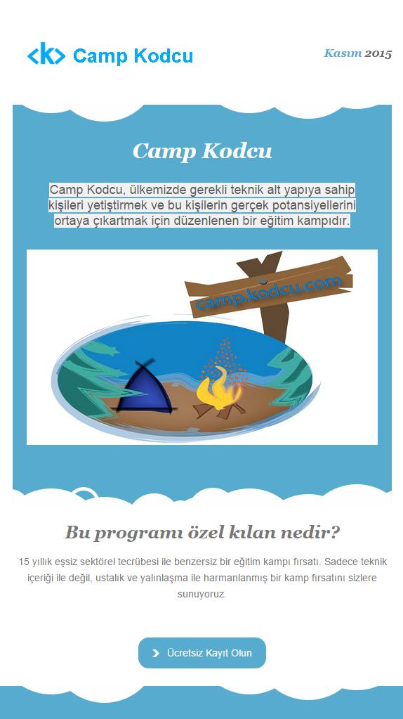 Camp Kodcu ücretsiz yazılım kampına hazır mısınız