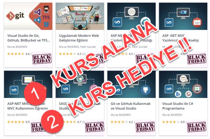 Udemy Murat Başeren Black Friday 2018 Kampanyası - 1 Kurs Alana 2 Kurs Hediye !!