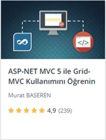 Udemy ASPNET MVC 5 ile Grid.MVC Kullanımını Öğrenin kursu promosyon - Murat Başeren