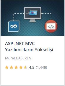 Udemy ASPNET MVC 5 Yazılımcıların Yükselişi kursu promosyon - Murat Başeren