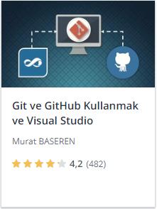 Udemy Git ve GitHub Kullanmak ve Visual Studio kursu promosyon - Murat Başeren