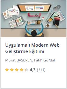 Udemy Uygulamalı Modern Web Geliştirme kursu promosyon - Murat Başeren