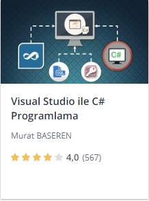 Udemy Visual Studio ile C# Programlama kursu promosyon - Murat Başeren