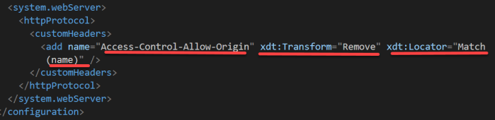 web-release-config-access-control-allow-origin-transformation-ile-silmek