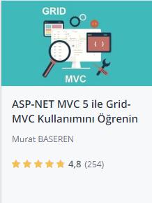 Udemy ASPNET MVC 5 ile Grid MVC kullanımı kursu promosyon - Murat Başeren