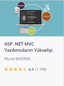 Udemy ASPNET MVC ile yazılımcıların yükselişi kursu promosyon - Murat Başeren
