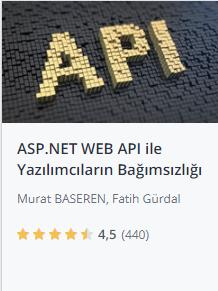 Udemy ASPNET web api ile yazılımcıların bağımsızlığı kursu promosyon - Murat Başeren