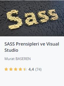Udemy SASS prensipleri ve visual studio kursu promosyon - Murat Başeren